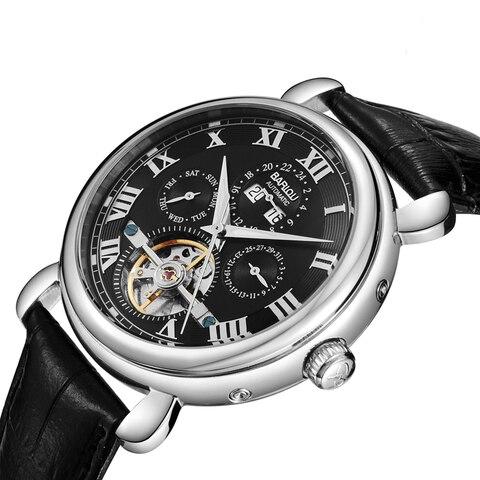 Relógio de Pulso Mão à Prova Relógio Masculino Negócios Automático Relógios Mecânicos Luminosa Dwaterproof Água Couro Marca Superior Luxo Moda 2019
