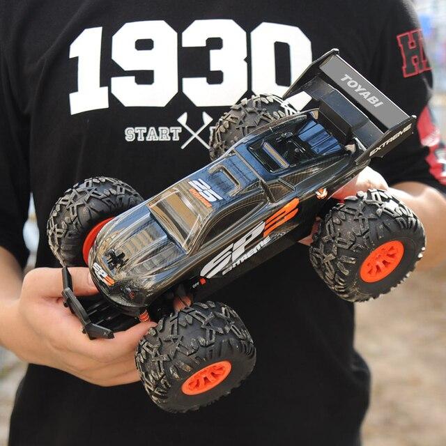 Carro rc 2.4g 1/18 monster truck carro de controle remoto brinquedos controlador modelo fora de estrada veículo caminhão 15 km/h controle de rádio carro de brinquedo carros