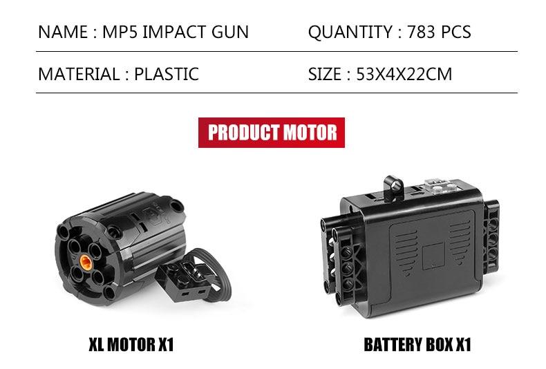 MOULD KING 14001 14005 SWAT Gun