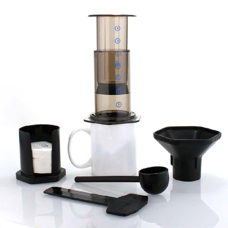 جديد تصفية الزجاج ماكينة صنع قهوة اسبريسو المحمولة مقهى الفرنسية الصحافة CafeCoffee وعاء لآلة AeroPress