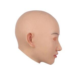 Image 3 - CYOMI Beauty Sivir أنثى اليدوية سيليكون الصف قناع رأس الجمال مصممة لمتحولين جنسيا للرقص حفلة تنكرية