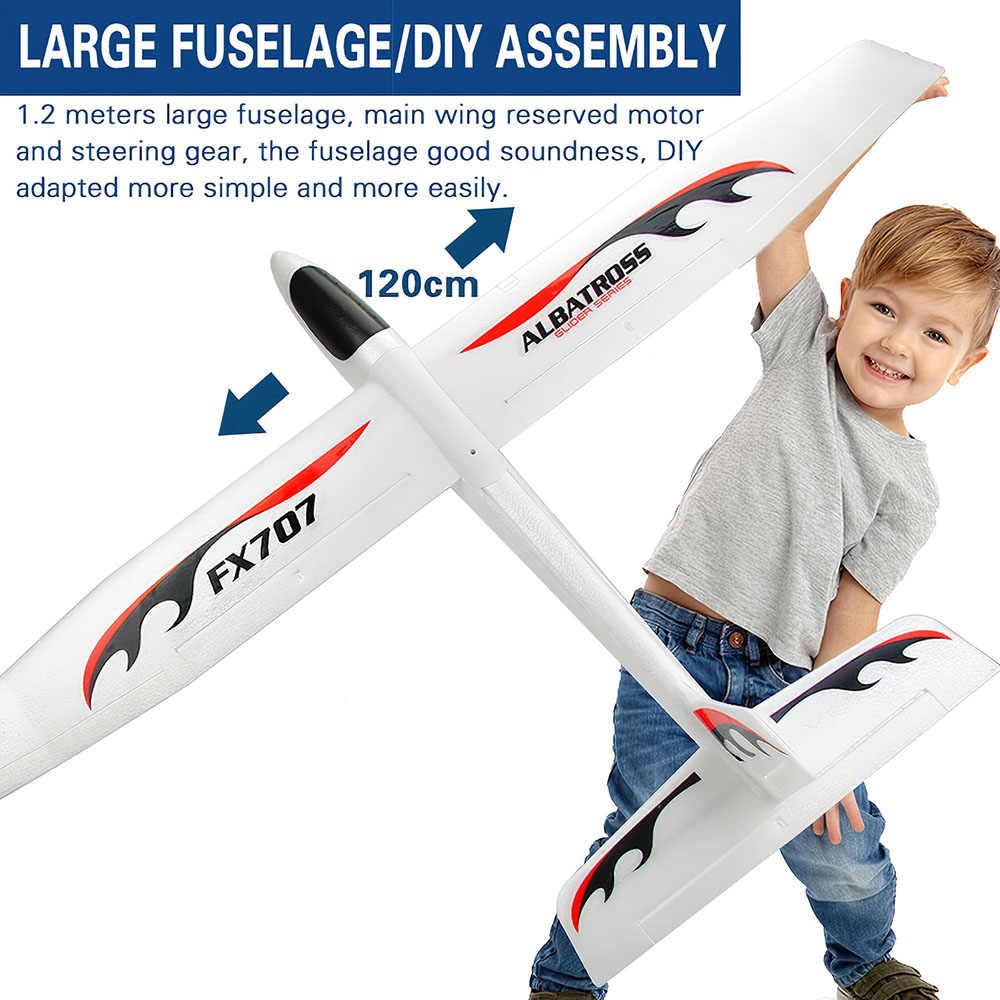 1200 Mm Lebar Sayap Tangan Peluncuran Glider Pesawat untuk Anak-anak Melempar Pesawat RC Busa Lembut Pesawat Model DIY Mainan Pendidikan FX707S