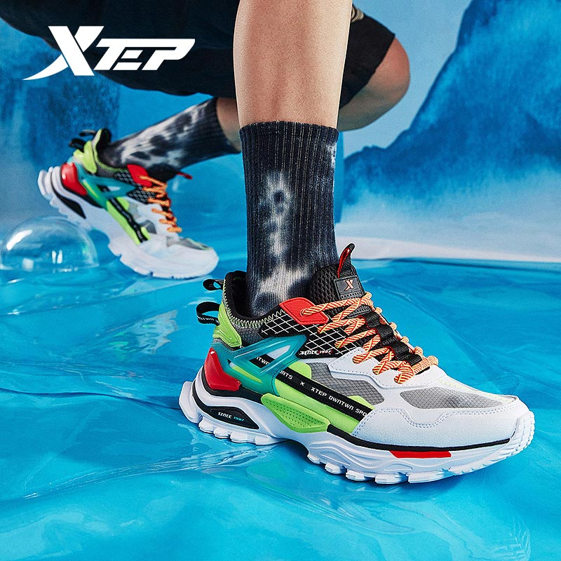 Xtep [Chinoiserie] Xtep Men Casual Sports Shoes Spring And Summer New Men Walk Shoes Old Dady Clunky Sneakers 880219320017