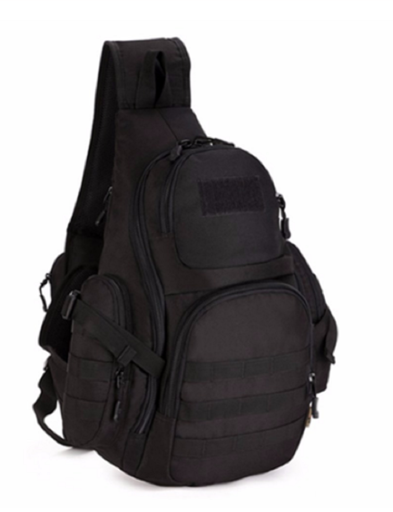 Outdoor Riding Mountaineering Camp Backpack Shoulder Pack Large-Capacity Tactical Bag Chest Pack Accommodate 14 Inch Computer