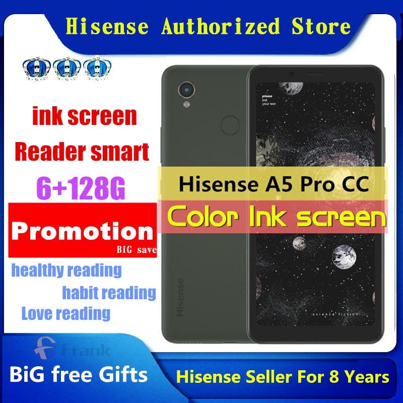 Оригинальный сотовый телефон Hisense A5 Pro CC, на базе Android 10,0, экран 5,84 дюйма с цветными чернилами, сканер лица, отпечатков пальцев, смартфон с двум...