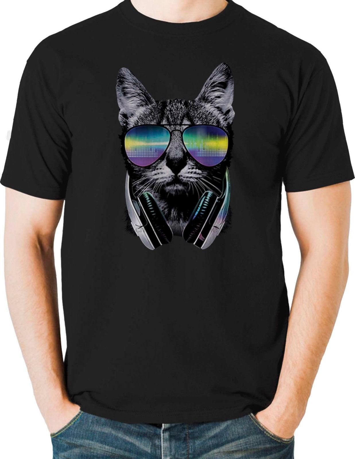 Neon Cat T-Shirt Mens