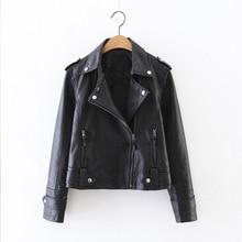 Faux Leather PU Jackets Coats Women Fashion Winter Autumn Motorcycle Jacket Black Coat Outerwear Short