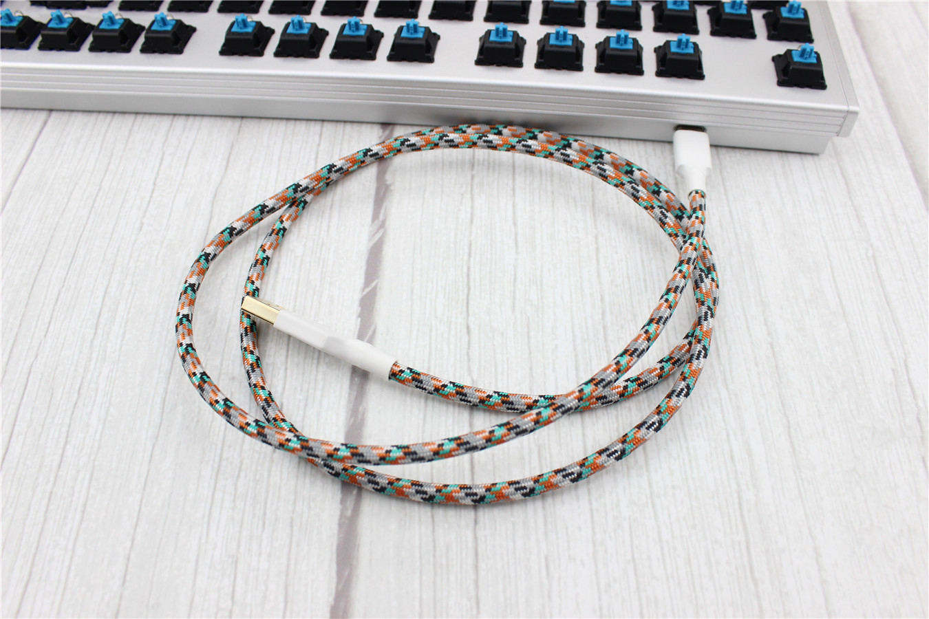 Cable Wire Mechanical Keyboard USB Cable Type-c USB Ducky Custom Sleeved Cord   eBay
