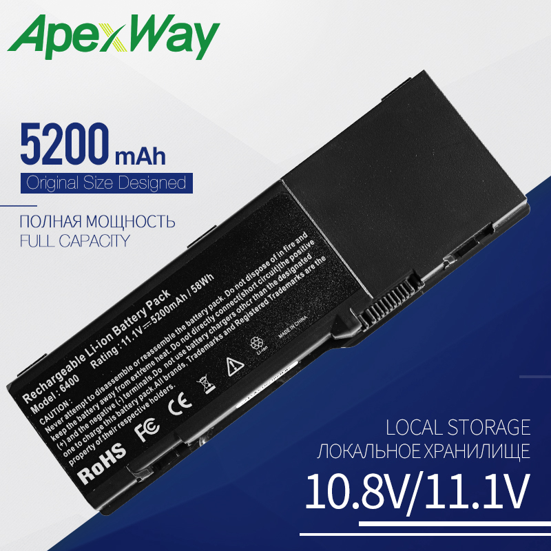 5200mah Laptop <font><b>battery</b></font> for <font><b>Dell</b></font> <font><b>Inspiron</b></font> <font><b>1501</b></font> 6400 E1501 E1505 Latitude 131L Vostro 1000 999C5730F PD945 XU937 TX280 TM777 image