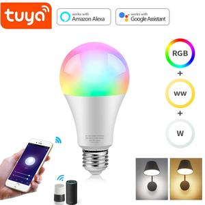 Tuya Smart Life 2.4G WiFi Smart Lamp Remote Voice Dimmable Control LED Bulb Work With Alexa, Echo,Google Home Automation Light