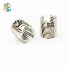 1-10 pces [M2-M20] aço inoxidável 302 estilo rosqueado rosca de metal reparação inserção auto rosqueamento inserções entalhadas parafuso rosqueado