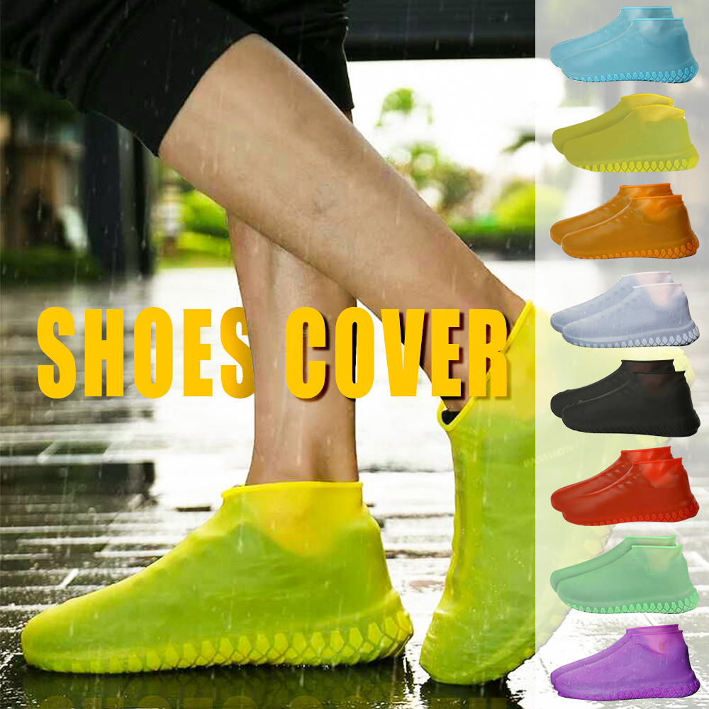 Waterproof Shoe Covers Cycling Rain Reusable Overshoes Anti-Slip Silicone Elastic Shoe Covers Protect Shoes Accessories 1pair