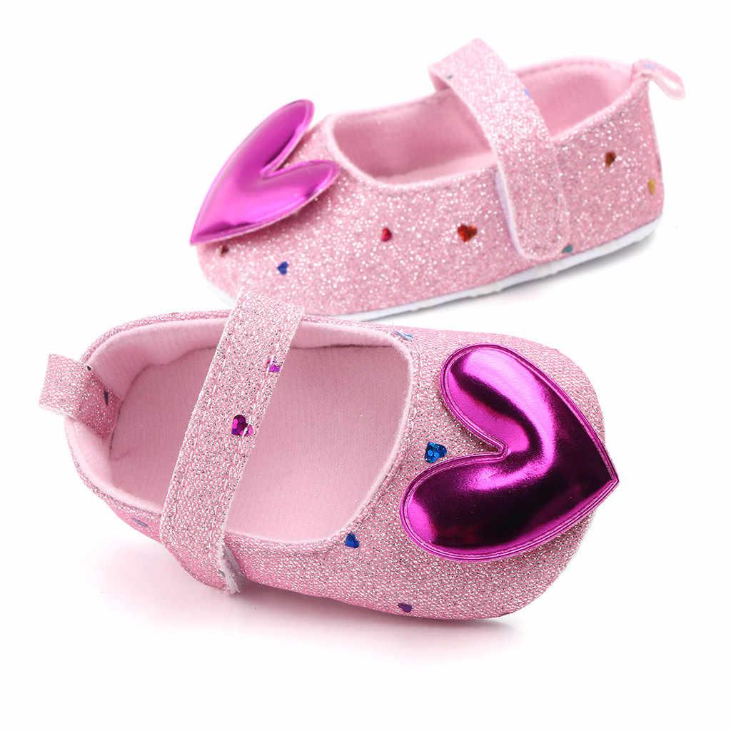 SAGACE รองเท้าเด็ก 2019 เด็กวัยหัดเดินเปลเด็กทารกรองเท้ารูปหัวใจเจ้าหญิงเด็ก Soft Sole Prewalker สำหรับเด็กทารก first Walk