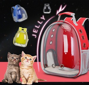 Image 3 - 2019 Beautiful Breathable Portable Pet Carrier Bag Outdoor Travel puppy cat bag Transparent Space Pet Backpack Capsule