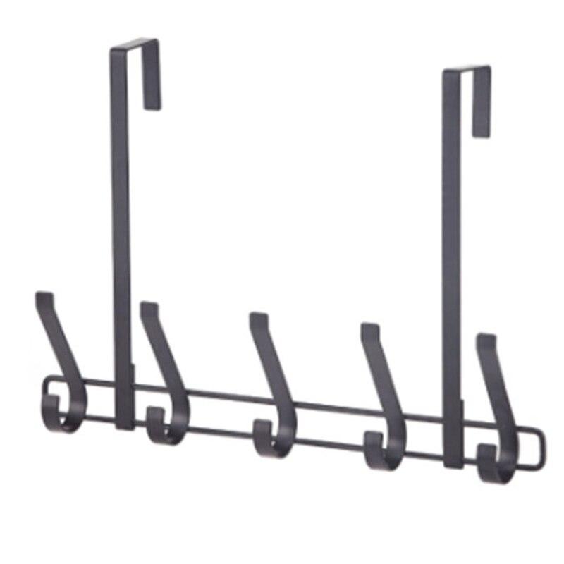 Detachable Door Hooks Iron Clothes Hanger Bathroom Tools Towel Holder Key Hooks Kitchen Organizer Cupboard Storage Rack