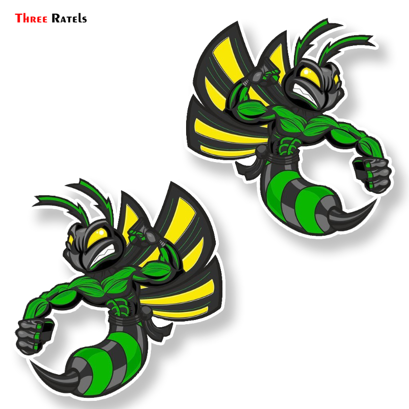 Three Ratels FTC-8871 Cool Lovely Cartoon Hornets Colored Pvc Car Sticker Bumper Window Graphic Decoration