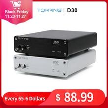 TOPPING D30 HIFI DSD DAC AmpถอดรหัสCS4398 XMOS USB DACถอดรหัสเสียงCoaxial Optical Fiber 24Bit/192KHz