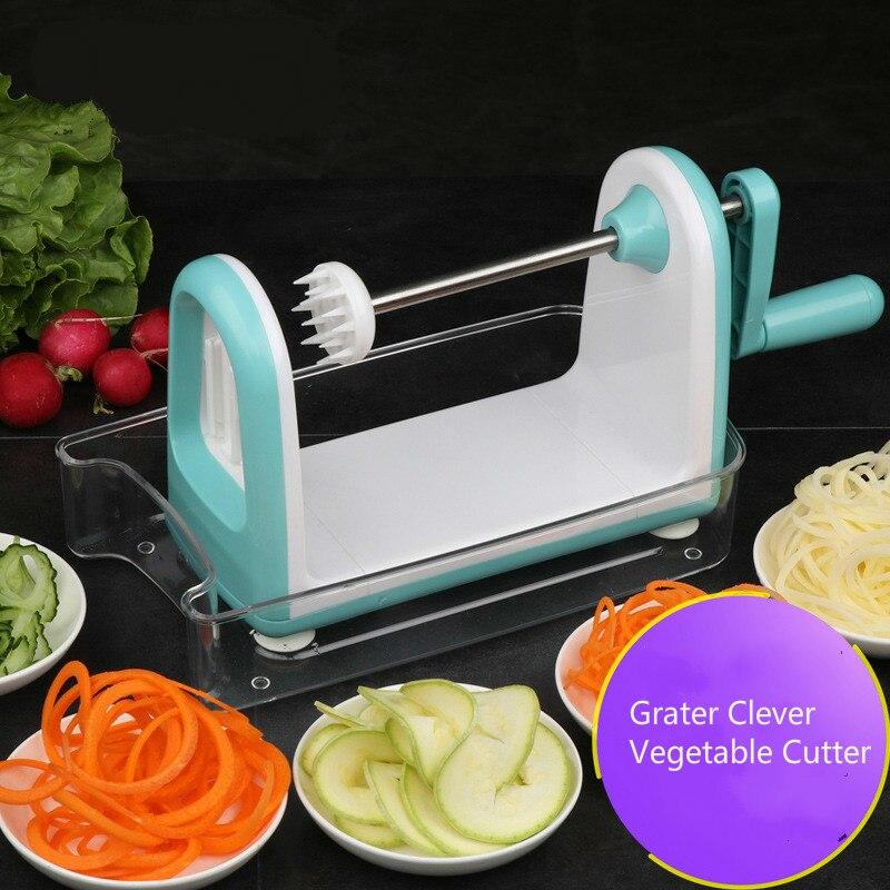 Multifunctional Manual Vegetable Spiral Slicer Chopper Slicer Cheese Grater Clever Vegetable Cutter Kitchen Tools