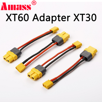 1Pcs Amass Cable FeMale XT60 Plug to Male Xt30 Plug Connector for RC Model Drone Adapter Wirings Spare Parts For RC power цена 2017