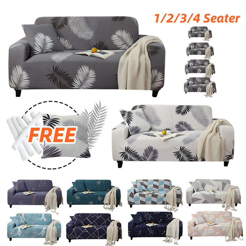 Geometric Sofa Cover Elastic For Pets For Living Room Armchair Slipcovers Stretch Corner Sofa Couch Covers Single Loveseat