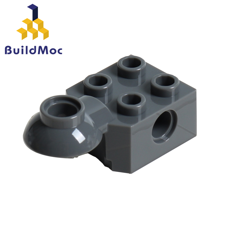 BuildMOC 48170 2 X 2 With Pin Hole Rotation Joint Ball Half  For Building Blocks Parts DIY LOGO Educational Creative Gift Toys