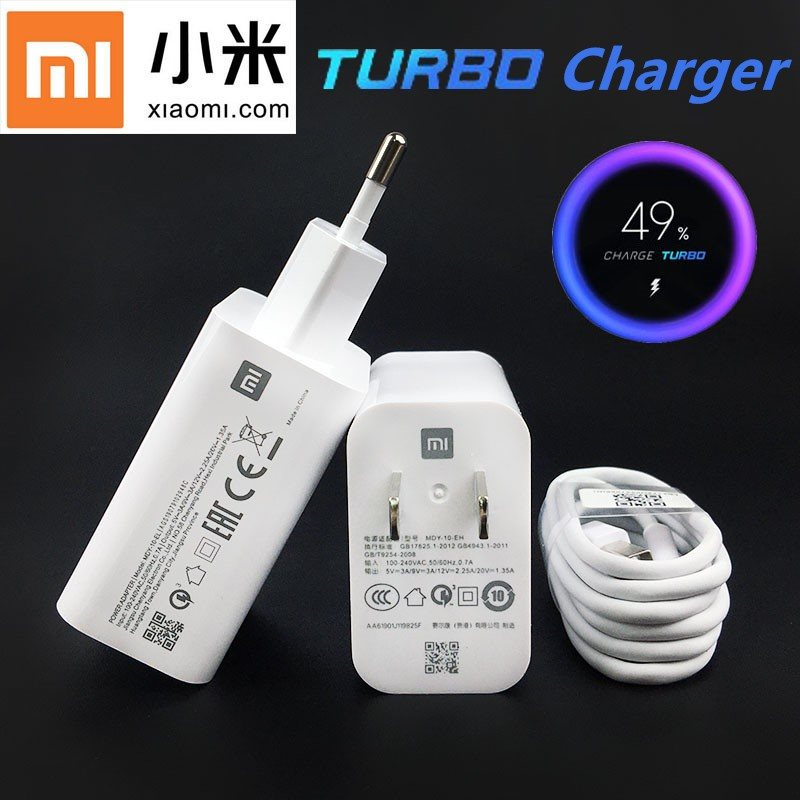 Original <font><b>27W</b></font> Xiaomi Fast <font><b>Charger</b></font> QC 4.0 Turbo Charge quick power adapter USB For <font><b>mi</b></font> 9 9t pro MAX 3 Redmi note 7 8 pro <font><b>mi</b></font> note 10 image