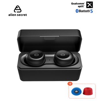 Alien Secret APTX Bluetooth Earphone TWS Wireless headphones Qualcomm-Chip Bluetooth Headphones Sport Wireless bluetoth headset