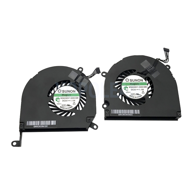"""Left + Right Green Label CPU Cooler Cooling Fan For Macbook Pro 15"""" A1286 2008 2009 2010 2011 2012 Years"""