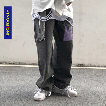 UNCLEDONJM Decadent Pants Jeans Men's Streetwear Fashion Hip-hop Straight Denim Pants Fashion distressed jeans biker jeans decadent