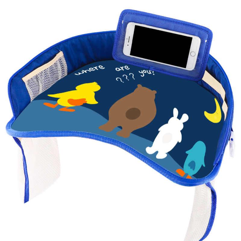 IMBABY multifuncional de dibujos animados de seguridad de coche bandeja de asiento de seguridad soporte de cochecito impermeable niños de juguete mesa de comida coche asiento de bebé