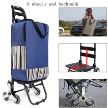 Shopping Trolley cart Woman Shopping Cart shopping basket Household shopping bag stairs Trailer Portable cart foldable waterproo cheap Canvas CN(Origin) 3 2 kg 54 cm Carry-Ons 20 cm Spinner 32 cm Luggage Unisex