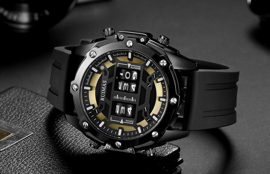 de pulso masculino pulseira de silicone militar relogio masculino 553