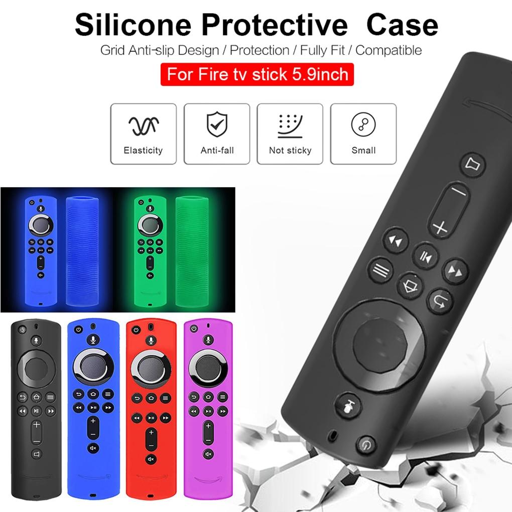 5.9 Inch Remote Control Shell Case Remote Silicone Case Protective Cover For Amazon Fire TV Stick 4K TV Stick Skin
