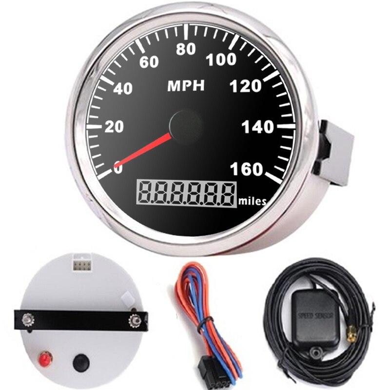 Velocímetro Digital GPS /& km//h mph para los barcos coches tractores Motocicletas Quads 85mm