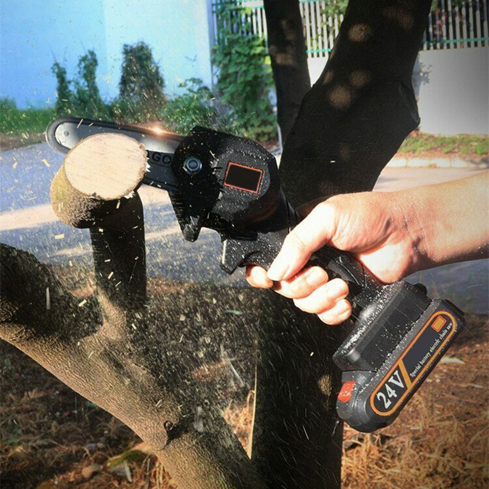 Rechargeable The Powered Ever Electric QP2 Wood Chainsaw Inch Cutter Mini Battery 4