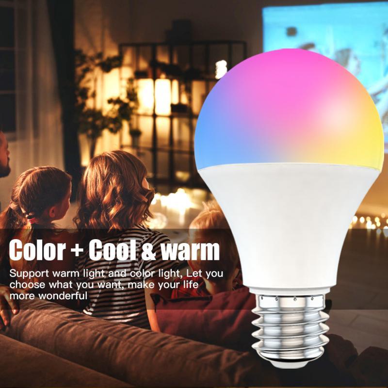 B22 E27 LED RGB Lamp 15W WiFi Smart Light Bulb Work With Alexa/Google Home 220V/110V RGB Dimmable Timer Function Magic Bulb