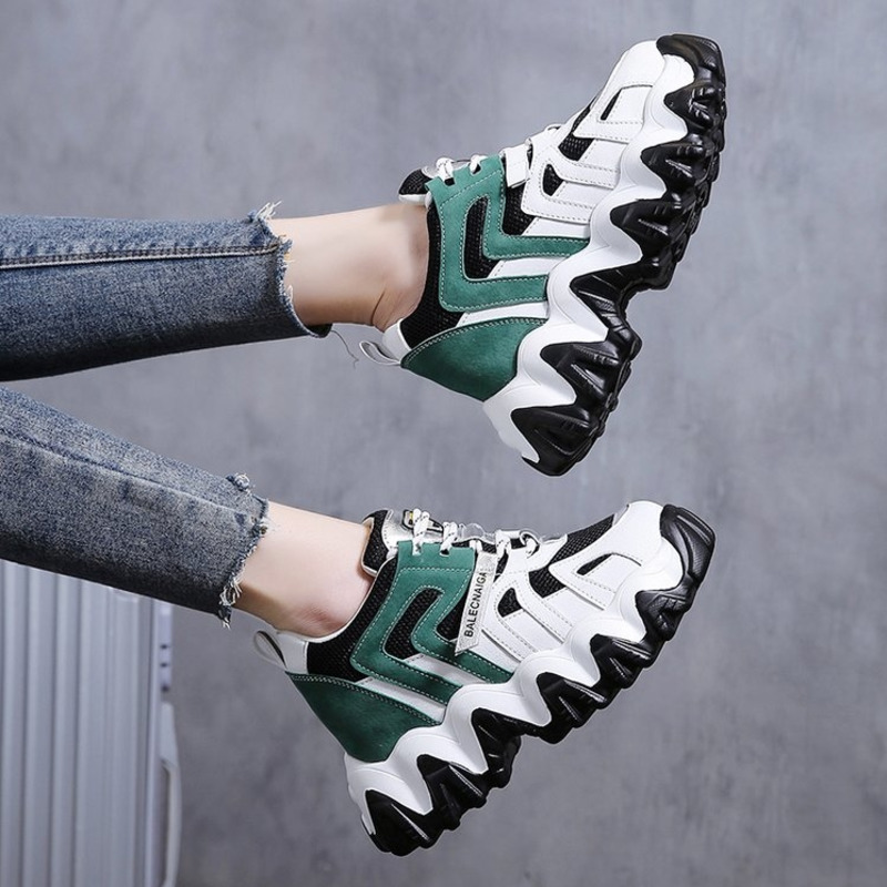 2020 Woman Platform Sneakers Brand Wedges Shoes For Women Designers Fashion Ladies 8cm Height Increasing Casual Shoes Female