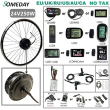 Electric-Bicycle-Conversion-Kit Gear-Hub-Motor 700c-Wheel Front-Drive 24v 250w Wheel-16-29inch