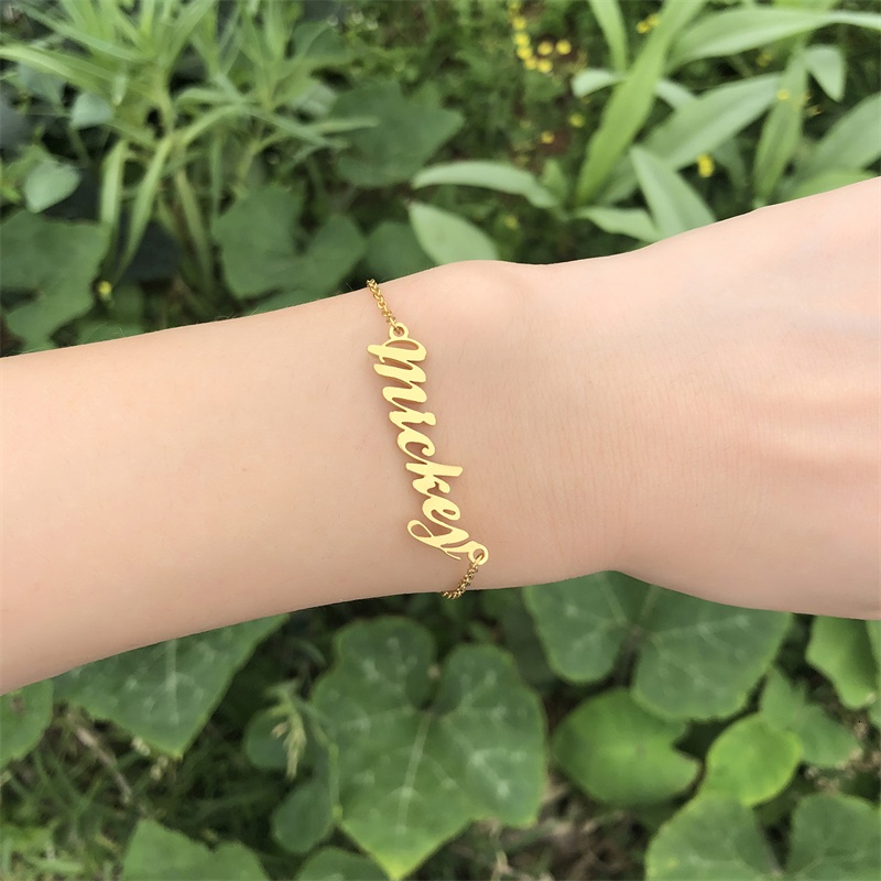 Customize Name Bracelet Women Wedding Birthday Jewelry Silver Gold Color Not Fade