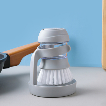 Household Automatic Liquid Addition Cleaning Brush Non-stick Oil Pot Bowl Brush Kitchen Dish Washing Brush with Detergent Tank palmolive ultra antibacterial orange dish washing liquid 10oz