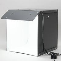 Nowy SANOTO 40cm namiot do zdjęć fotografia tło przenośny Softbox LED Light budka foto fold Photo Studio miękkie pudełko w Stoliki świetlne i lightboxy od Elektronika użytkowa na