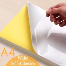Sticker Label Craft-Paper Laser-Inkjet-Printer Self-Adhesive 20-50-Sheets White A4