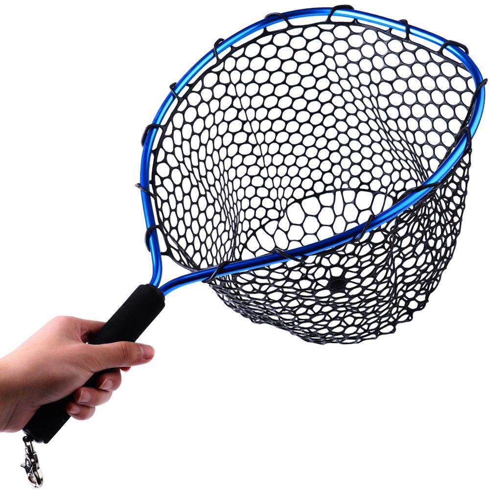 Sougayilang sinek balıkçılık Net örgü yumuşak kauçuk kırmızı tor ağı alabalık yakalamak Net kordon halat manyetik toka olta takımı