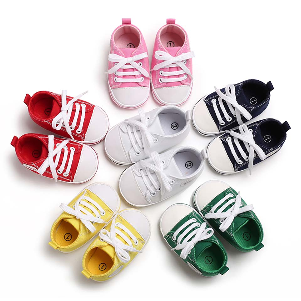 Baby Canvas Shoes Classic Soft Sole Newborn First Walker Baby Girls Boys Sneakers Fashion Toddler Infant Prewalker Casual Boots