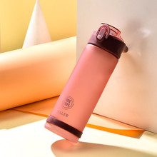 DILLER Plastic Large-capacity Straws Hand Cups Outdoor Sports External sports straw cup 850ml A1
