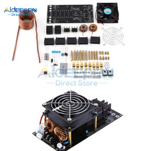 12V-36V 1000W 20A ZVS Tesla Coil Induction Heating Board Module DIY Kit PCB Board Flyback Driver Heater With Cooling Fan