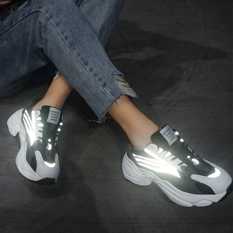 Chunky Sneakers Harajuku Shoes Women Vulcanize Shoes Slip-on Women Shoes Platform Sneakers Walking Women Flats Sneakers Shoes