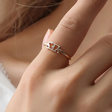 Fashion Letter Ring Metal Cool Personality Golden Korean YesNo Style Hip Hop Birthday Gift Banquet