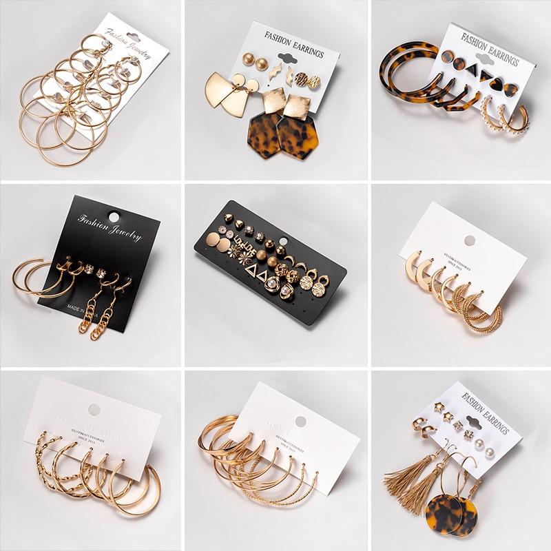 Женские серьги, винтажные жемчужные серьги для женщин, большой золотой набор серег, круглые длинные висячие серьги с кисточками, ювелирные ...