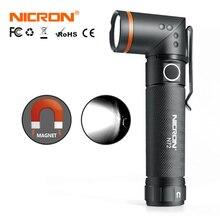 NICRON eller serbest büküm LED el feneri yüksek parlaklık su geçirmez 800LM CREE beyaz/UV LED el feneri mıknatıs ışık N72/N72 UV